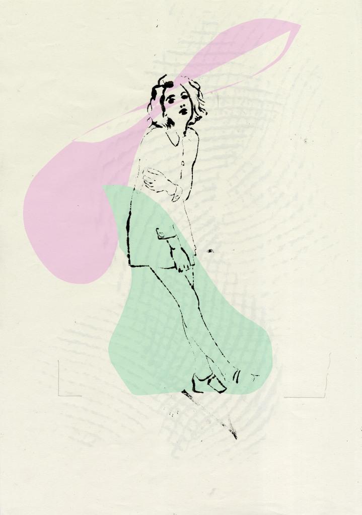 fashion illustration blottedline inkonpaper arindacraciun