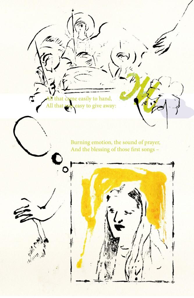 poem blottedline inkonpaper arindacraciun