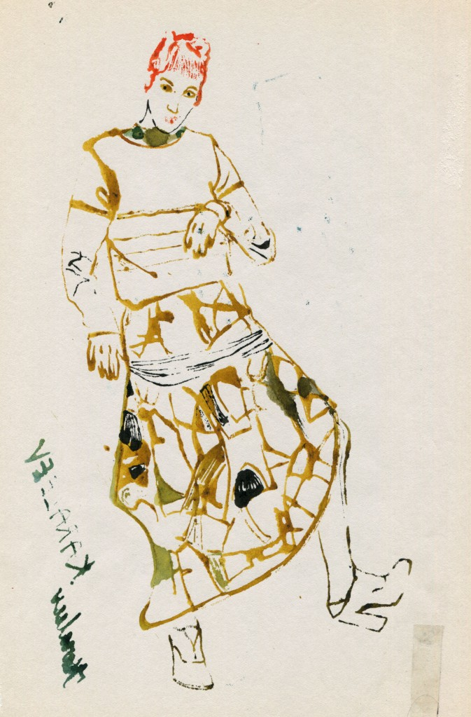 fashion illustration monoprint arindacraciun