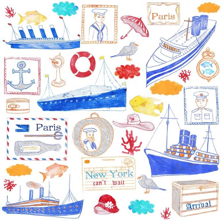 Scrapbooking Collection vintage Cruise Ships Arinda Craciun
