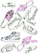 schoes pattern blottedline print arindacraciun