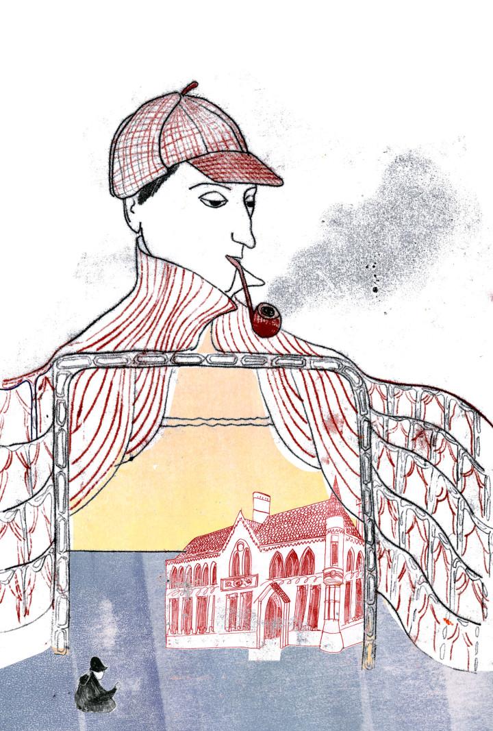 sherlock doyle book illustrations monoprint