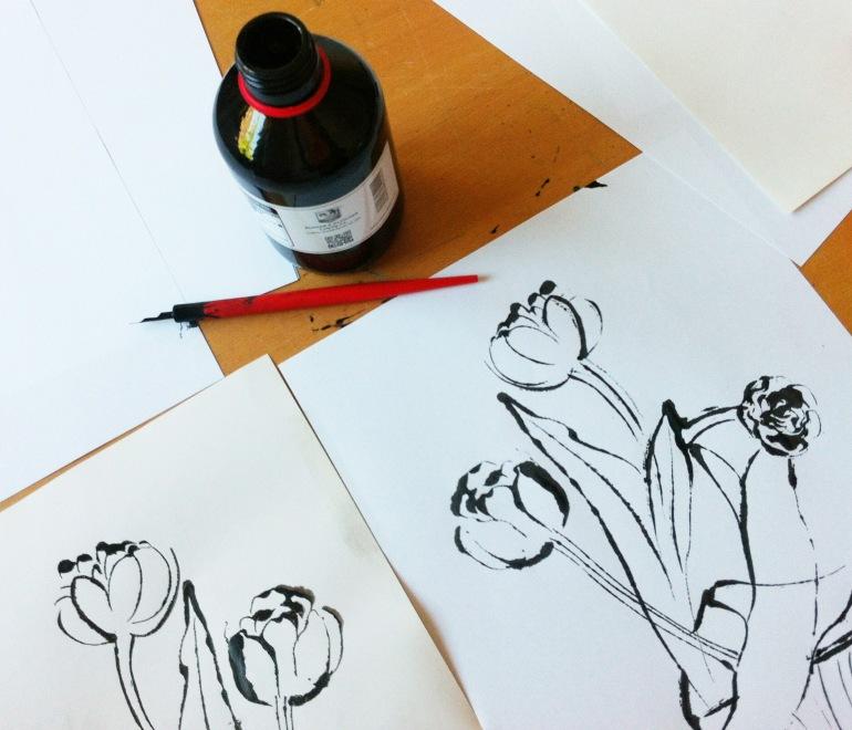 1 tulips tulpen arinda blotted line