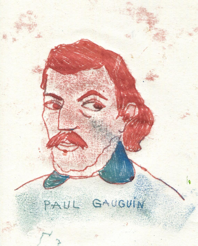 gauguin portrait illustration arinda craciun