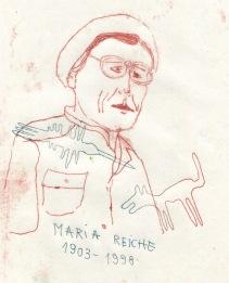 maria reiche portrait illustration arinda craciun