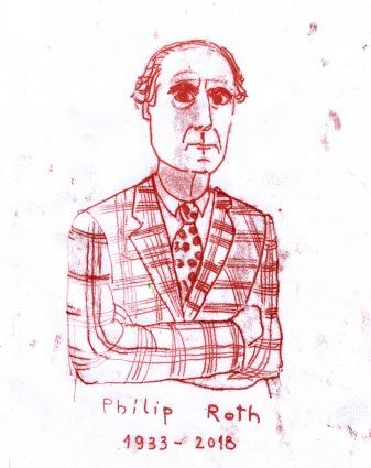philip roth portrait illustration arinda craciun