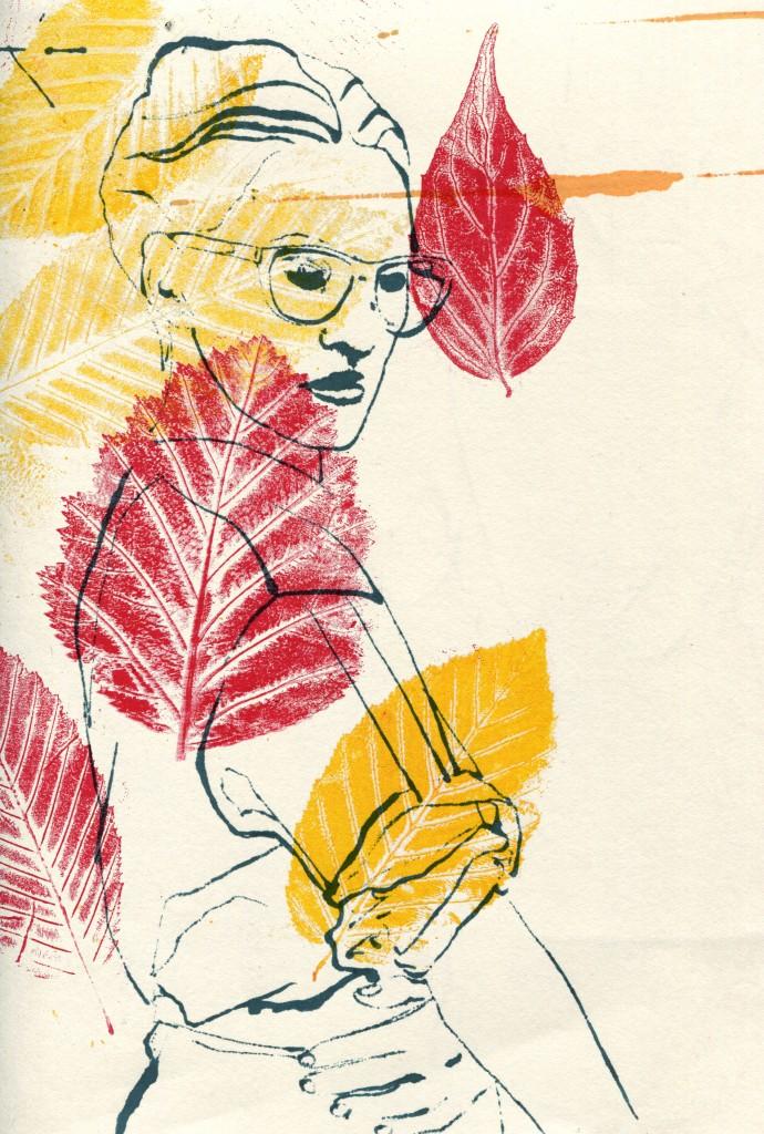 mode fashion blottedline print woman arindacraciun autumn