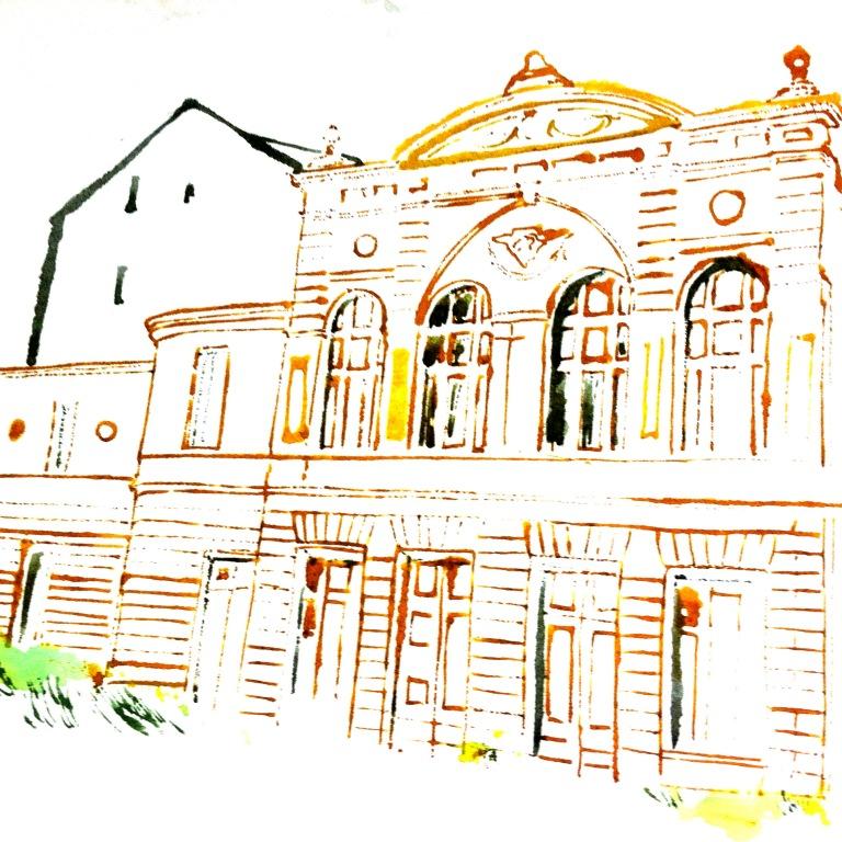 architecture blottedline print arindacraciun